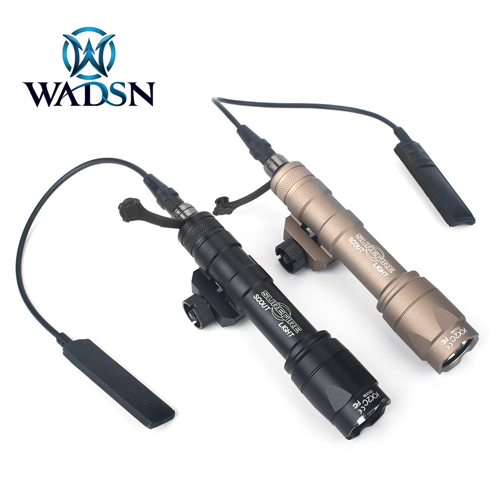 WADSN Airsoft Surefir M600C Scout Flashlight Tatical M600 LED 340lumes Weapon Rifle Light Softair Hunting Accessory