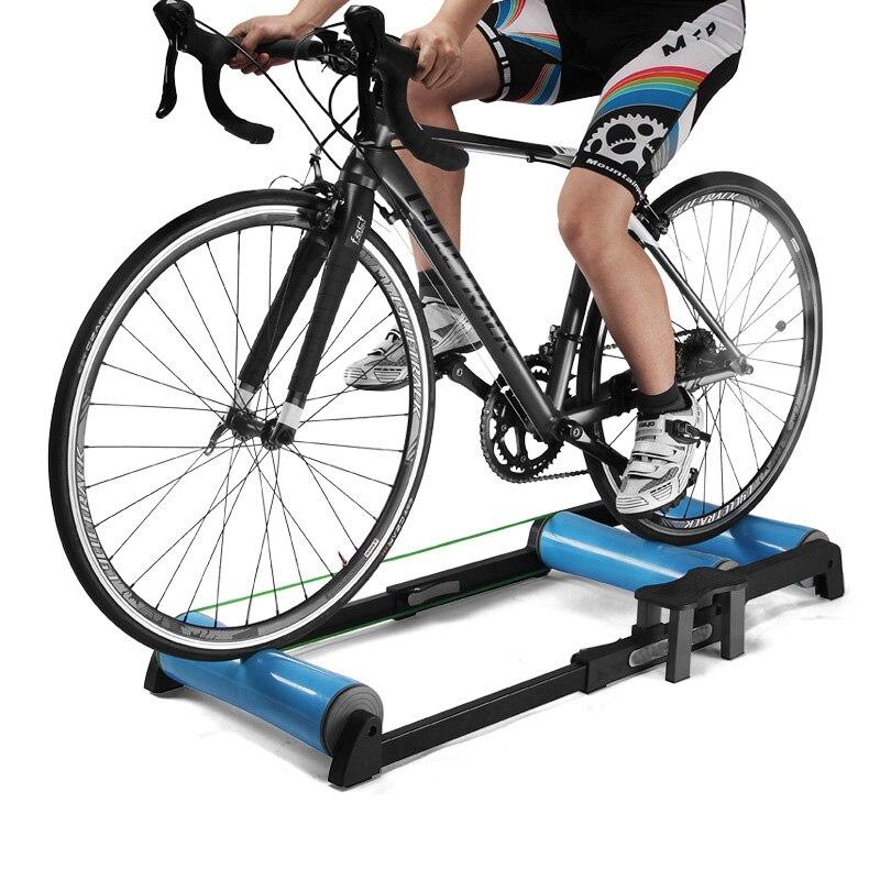 Trainer Bike Rol Dalam Ruangan Di Rumah Rodillo Bicicleta Bersepeda Pelatihan Kebugaran Sepeda Pelatih MTB Sepeda Jalan Rol title=