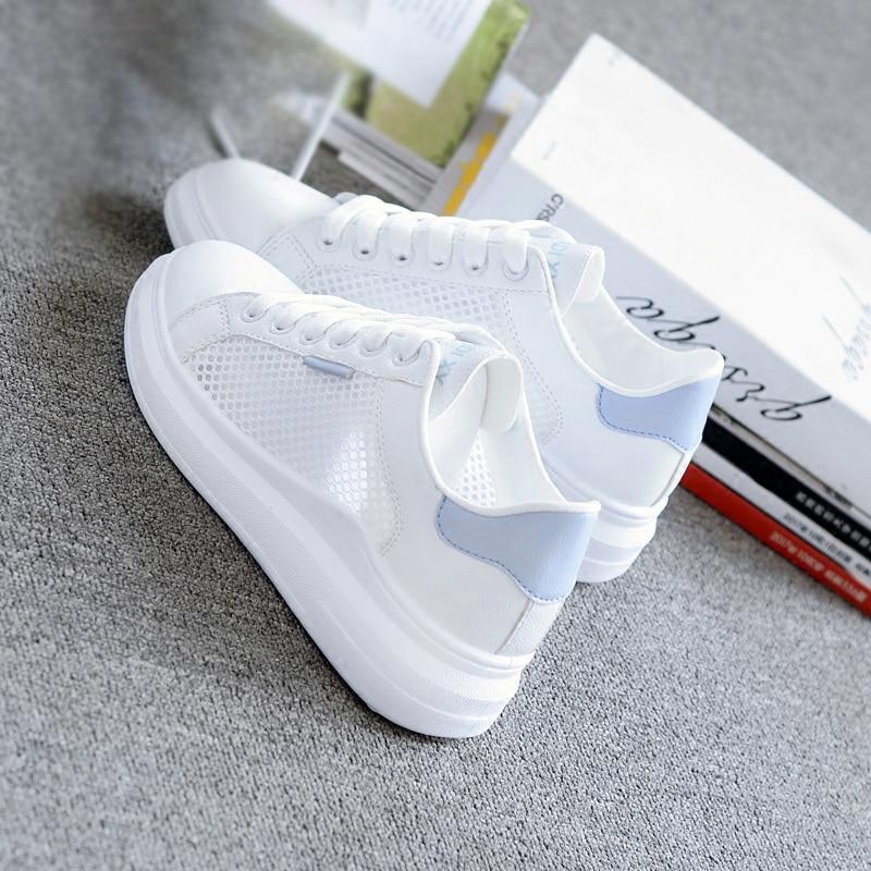 Women Casual Shoes Summer 2019 Spring Women Flats Shoes Fashion Breathable Vulcanization Lace-Up Women Sneakers Yuj7