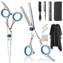 YBLNTEK Kit profesional de tijeras de peluquería, tijeras para cortar el pelo, peine de cola, capa para pelo, peine cortador de pelo, 7/9 Uds.