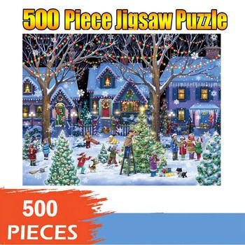 Motyw świąteczny Puzzle Jigsaw s 500 Piece Puzzle duże Puzzle Jigsaw dla dorosłych Puzzle dla dzieci gry świąteczne prezenty edukacyjne tanie i dobre opinie CN (pochodzenie) Unisex 2-4 lat 5-7 lat 8-11 lat 12-15 lat Dorośli 6 lat 8 lat 3 lat 3 lat Papier NONE COMMON