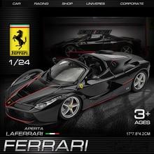Bburago 1:24 FERRARI Black  La ferrari simulation alloy car model Collect gifts toy bburago 1 24 ferrari 550 maranello simulation alloy car model collect gifts toy