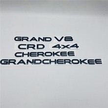Черные/Серебристые/Золотые эмблемы для Grand Cherokee 4x4 CRD V8 передняя левая и правая Боковая дверь эмблема задний хвост логотип буквы имя пластина
