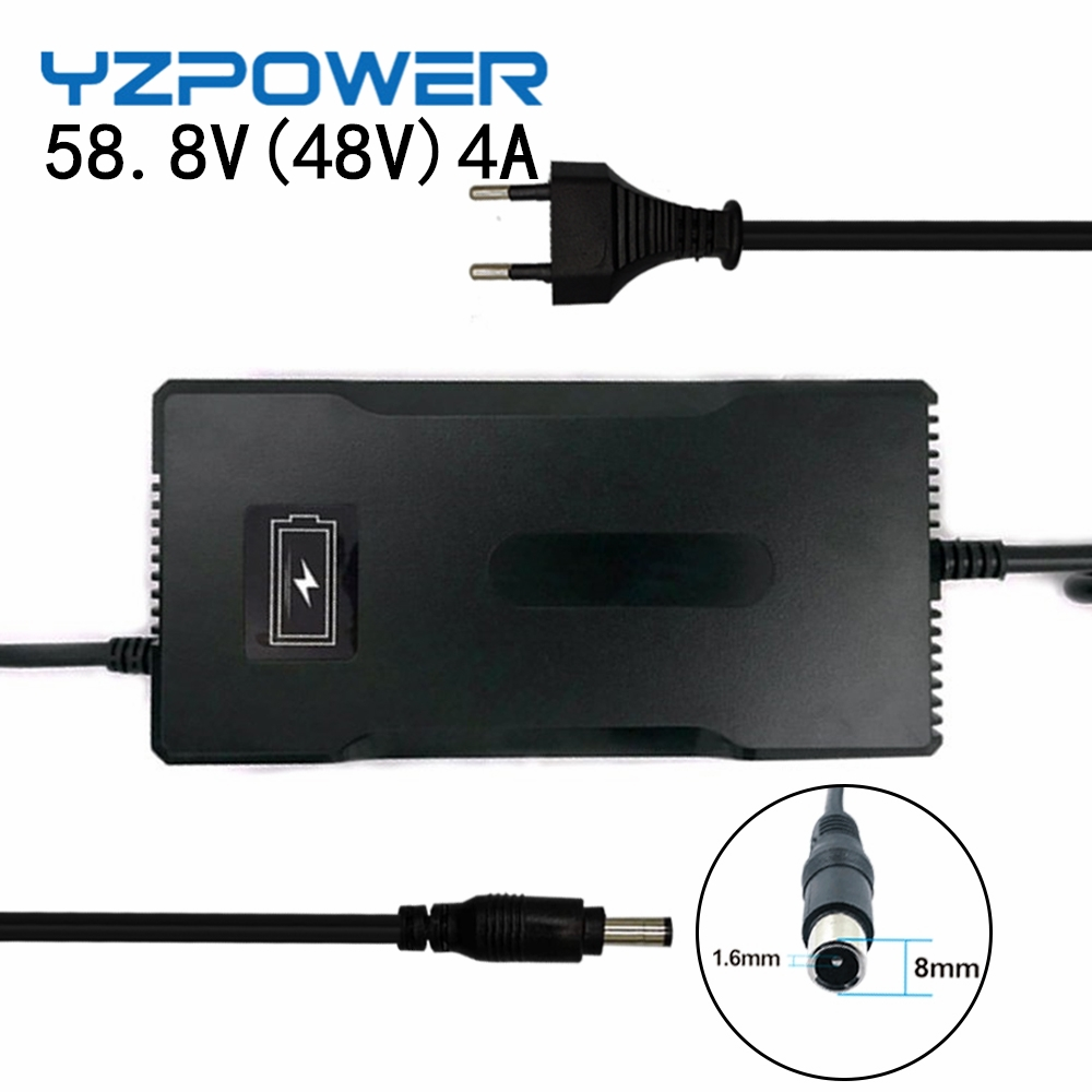YZPOWER Intelligent 58 8V 4A Lithium Battery Charger for Electric Tool Robot Electric Car Li-on Battery 48V 51 8V  14S
