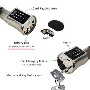 Image 2 - スマートシリンダーロックヨーロッパスタイル電子ドアロックデジタルキーパッドコード rfid カードキーレス電気錠安全家庭用