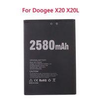 Новый doogee x20 2580mah 38 v аккумулятор литий ионный полимер