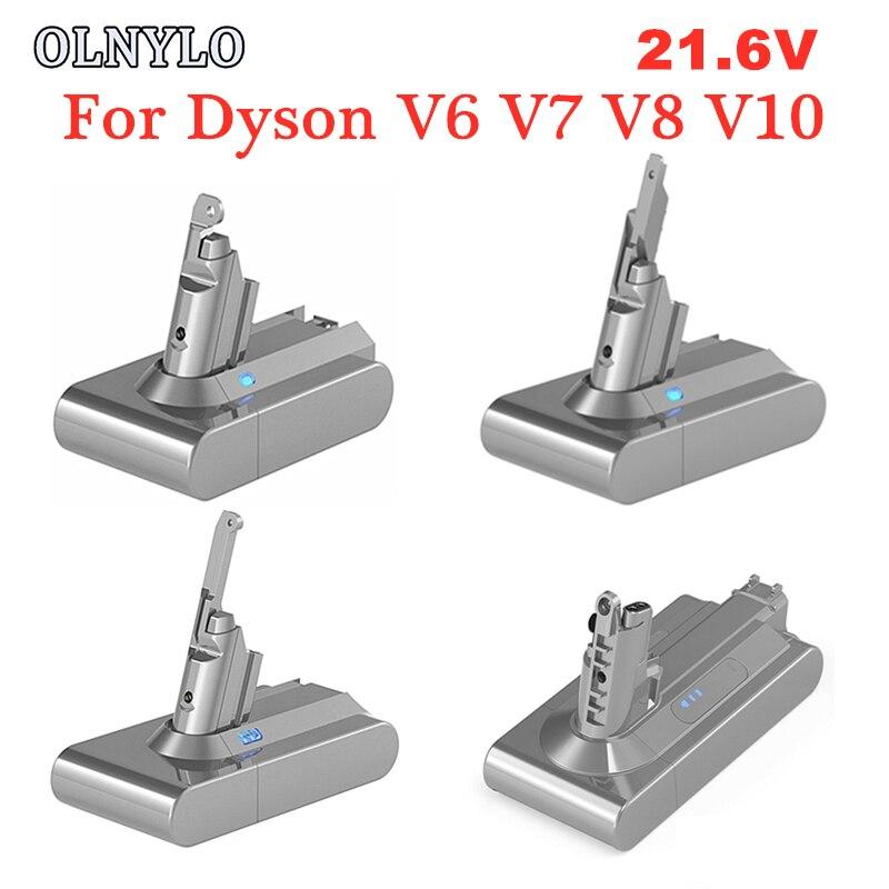 21.6V 4000mAh Bateria Bateria Recarregável para Dyson V6 V7 V8 V10 DC58 DC59 DC61 DC62 DC74 SV09 SV07 SV04 Bateria Aspirador de pó