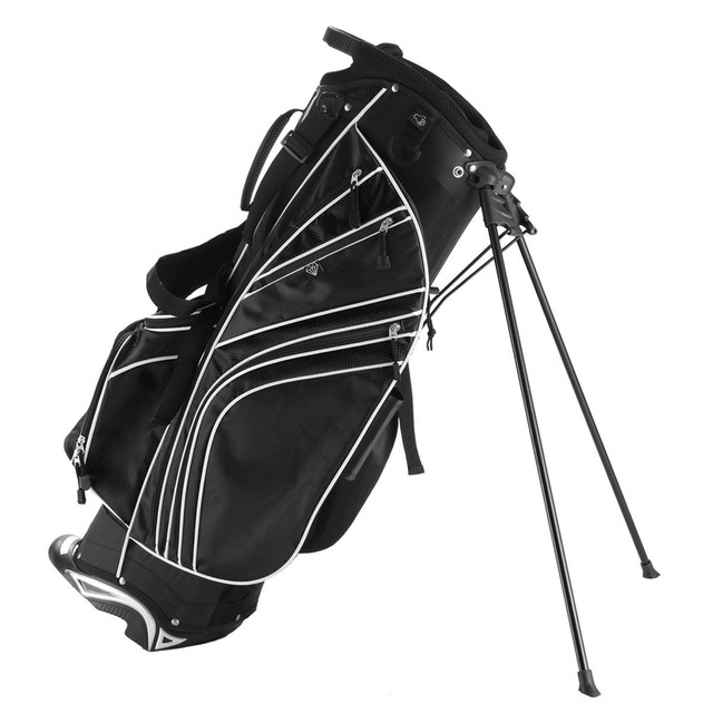 Golf Stand Cart Bag with 6-Way Divider Carry Pockets Golf Rack Bag Mens Women Standard Ball Club Bag Portable Large Capacity 3