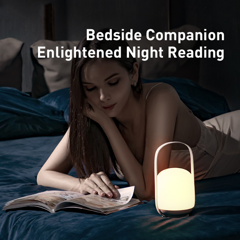 Baseus Portable Night lights 3000-5000K Stepless Dimming Table Lamp Bedside Lamp Rechargeable LED Light For Home Outdoors