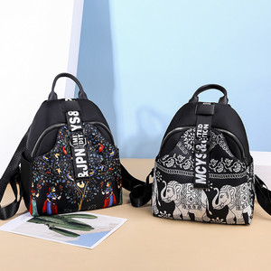 Image 5 - India Thai Style Women Backpack Leisure Ethnic Style High Quality Oxford Packbag Travel Female School Shoulder Back Bag for Girl