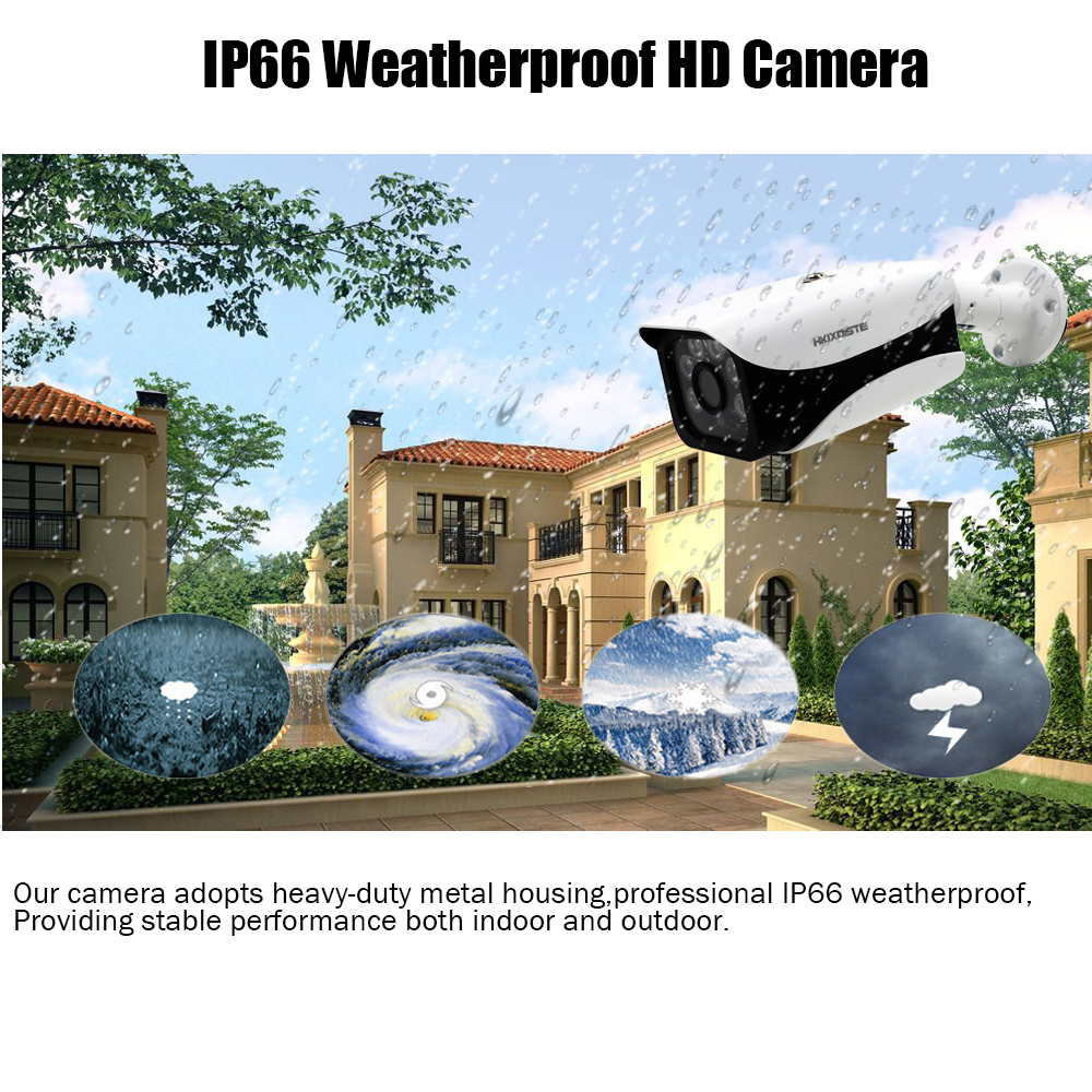 Image 4 - HKIXDISTE HD 16CH DVR Kit 4.0MP Security Camera CCTV System 16PCS AHD 4MP 6 array Camera Outdoor Weatherproof Surveillance Set-in Surveillance System from Security & Protection