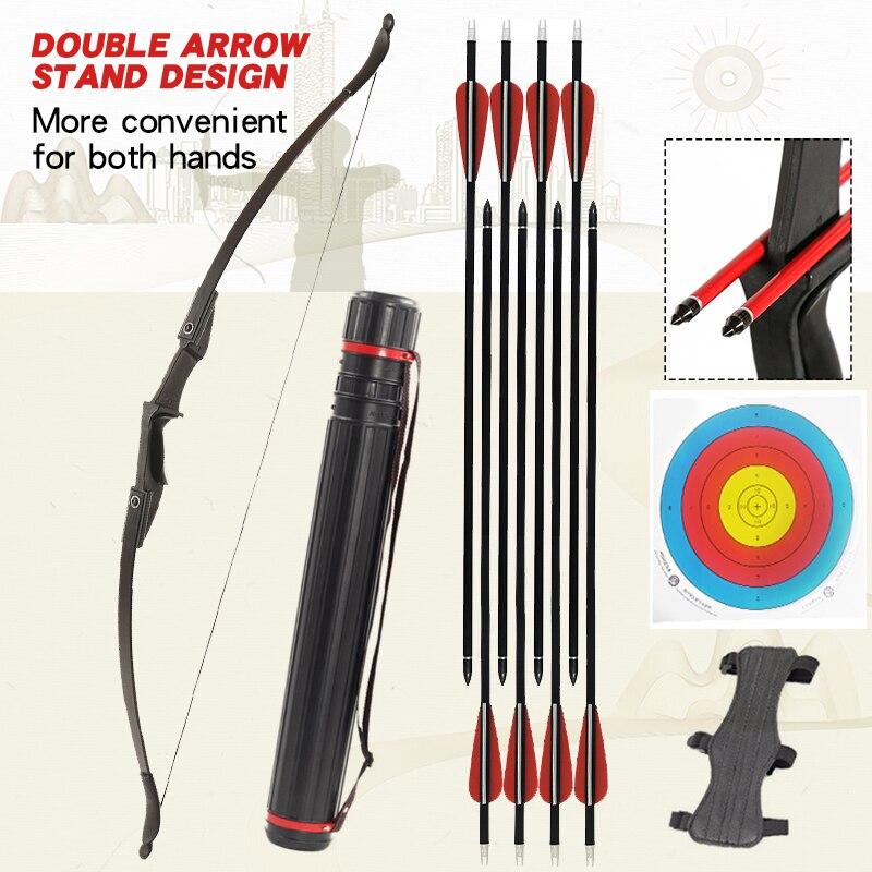 Arco y flecha profesionales 30/40lbs arco recurvo caza deportes al aire libre juego de tiro adecuado para las manos izquierda y derecha
