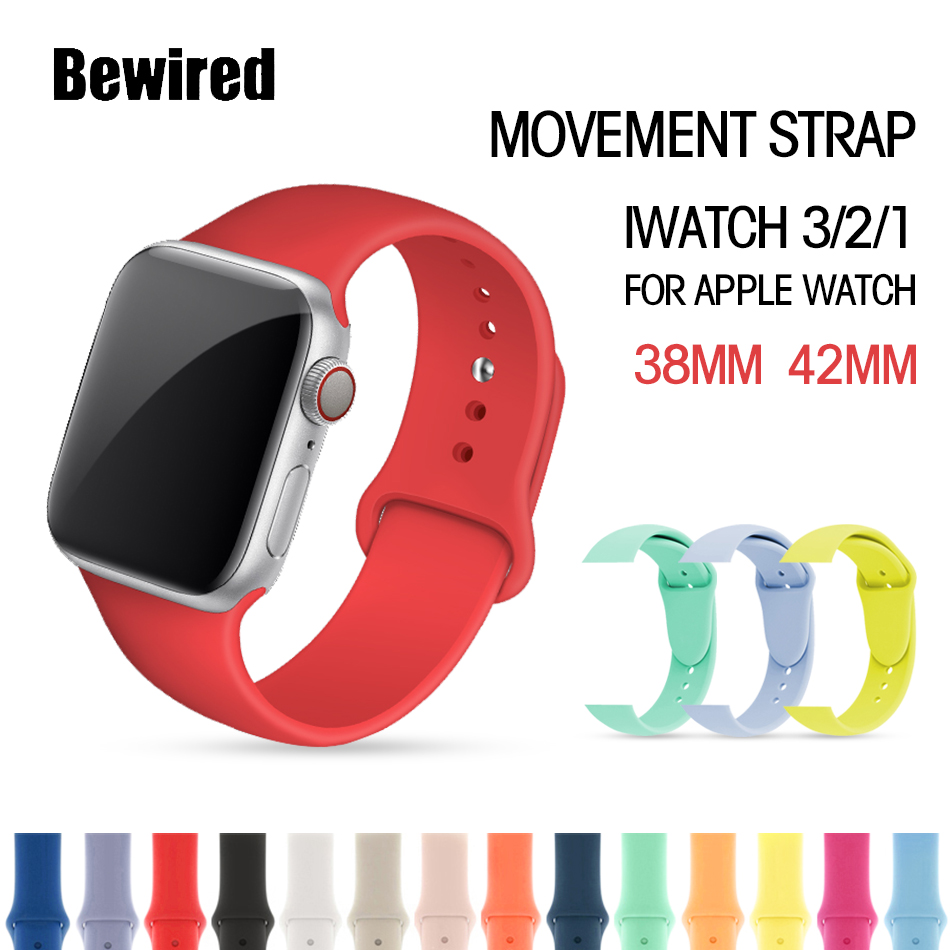Sport Strap For Apple Watch Band 38mm Wrist Lope Strape 40mm For Iwatch 5/4/3/2/1 42mm 44mm Silicone Bracelet Watchband