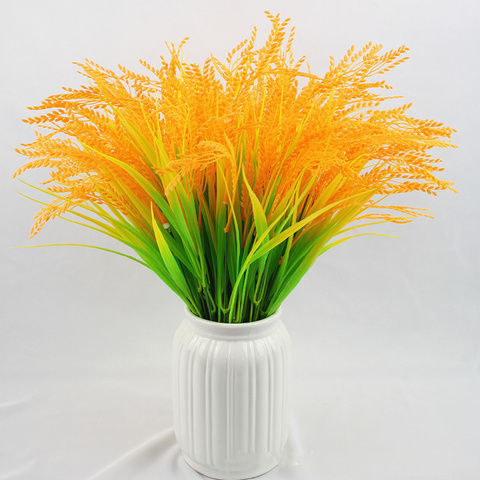 Affordable Artificial Wheat Ear Flowers Wedding Decoration Yellow Wheat Grain Flowers Restaurant Table Placed Accessories For Garden Decor — stackexchange
