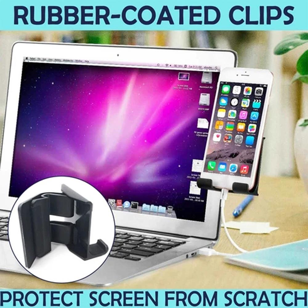 Monitor Display Clip Stand Laptop Side Mount Phone Connects Bracket Holder Screen Side Phone For Multi Screen Support