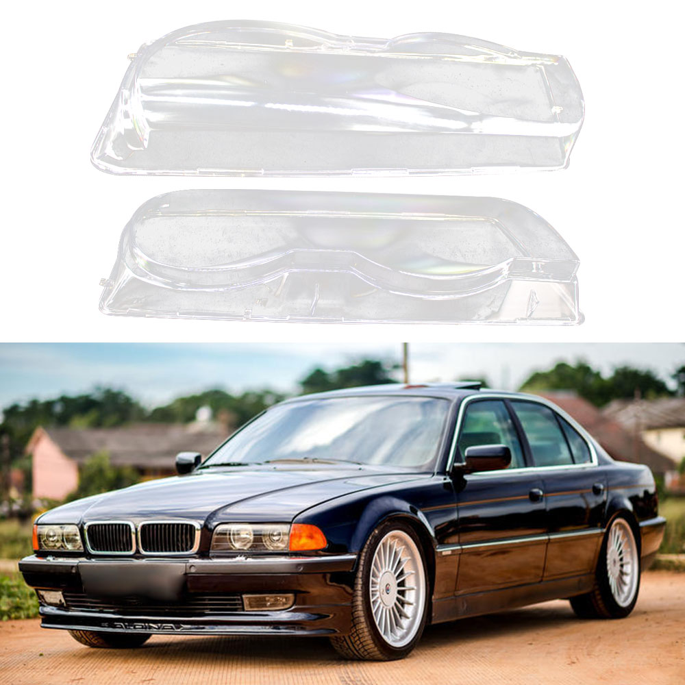 Корпус для фар, прозрачный корпус для автомобиля, фара, прозрачная фара, крышка для объектива, крышка для правого и левого BMW 7-Series E38 Facelift ...