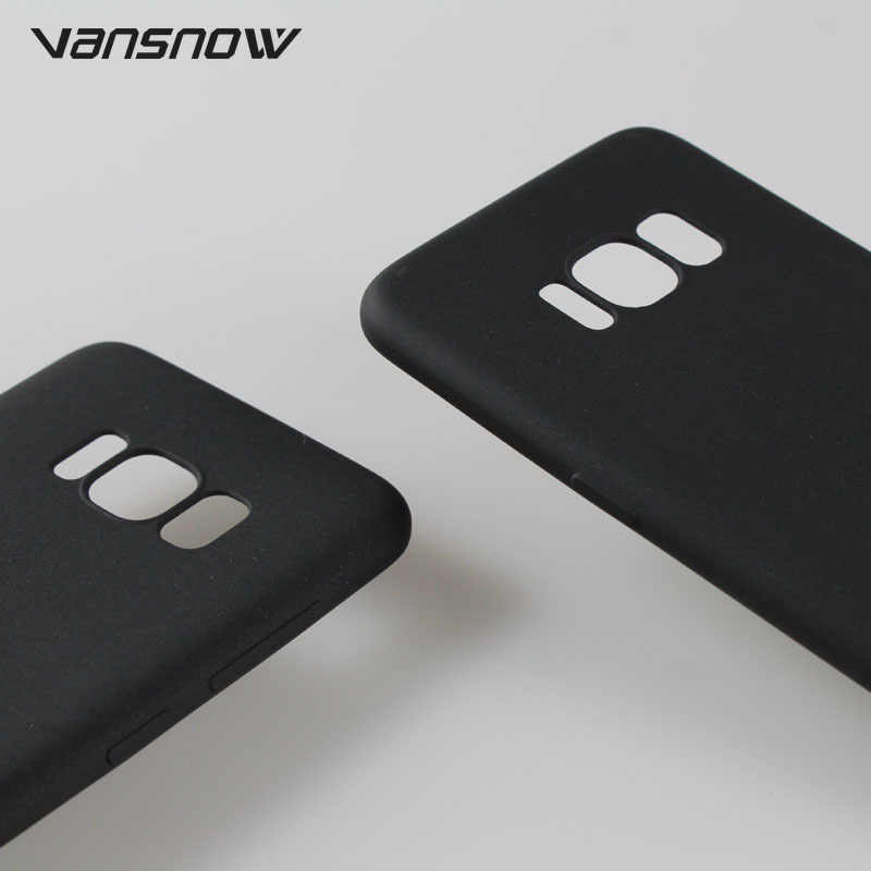 2019 Preto Fosco Caixa Do Telefone Para Samsung Galaxy A7 A9 A8 J4 J6 Plus 2018 S8 S9 Plus Nota 9 8 J3 J5 J7 2017 A6s TPU Tampa Traseira