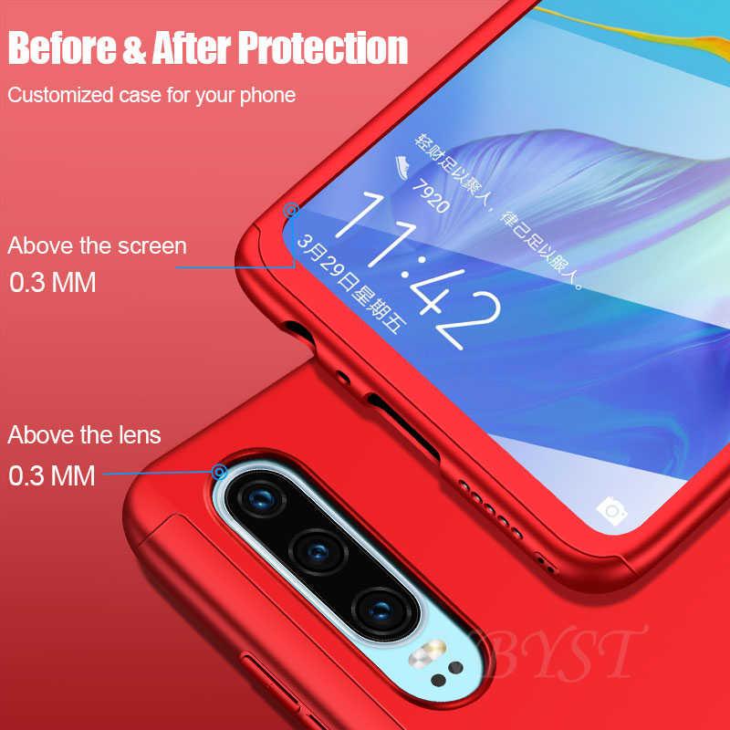 360 tam koruyucu telefon kılıfı için Huawei Y7 Y5 Y9 Y6 Prime P akıllı anti-vurmak kapak onur 9X Pro 7A 7C Pro 8A 8X 8S 8C çapa