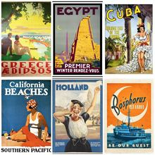 Classic travel poster family decoration painting