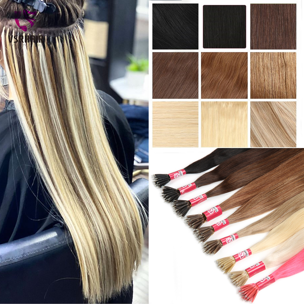 Open-Minded Vsr Double Drawn Machine Remy Human Fusion Hair Piano Blonde Color 1g/s Loop Micro Ring Beads Nano Hair Extensions Wide Varieties