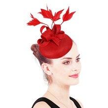 Коктейльные шляпы для женщин и девушек, шляпы для свадебной вечеринки, аксессуары SYF570