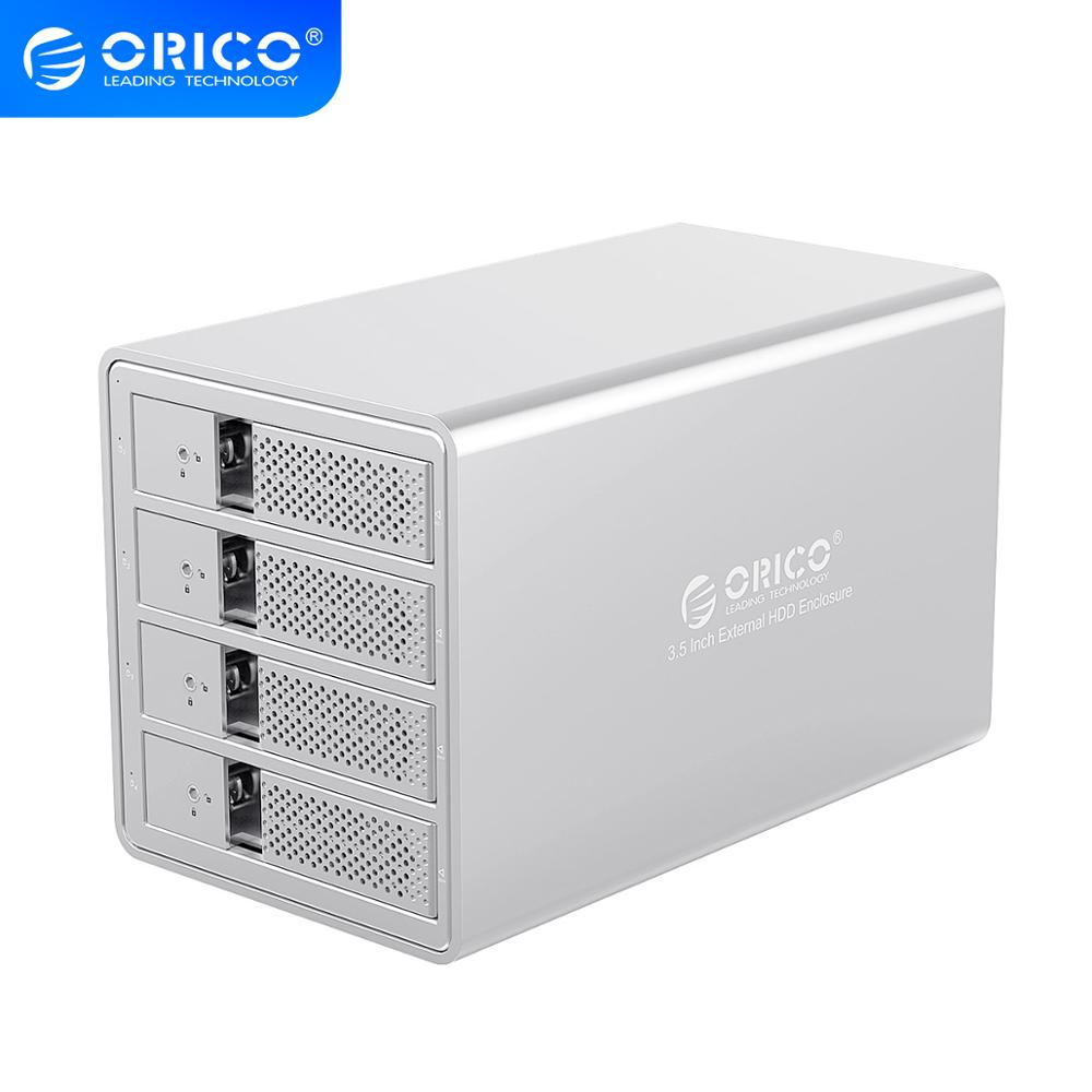 ORICO 95 Series 4 Bay 3.5'' SATA To USB 3.0 HDD Docking Station With 150W Internal Power Adaper For 64TB UASP Aluminum HDD Case