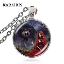 Очаровательное красное ожерелье karairis с капюшоном для верховой