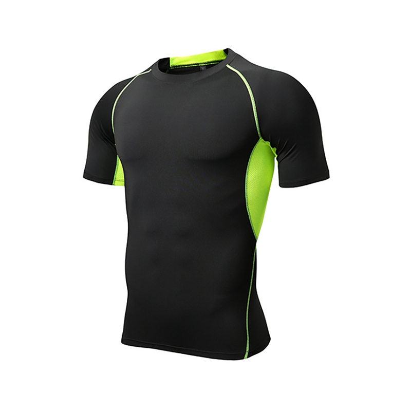 Men Brand  Short Sleeve T-Shirts Men O Neck Quick Drying Casual Tight Tee Tops Fitness Apparel Sportswear