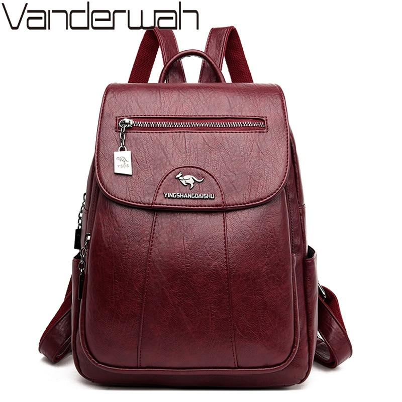 Women Leather Backpacks Fashion Shoulder Bag Female Backpack Ladies Travel Back Pack Mochilas School Bags For Girls Sac A Dos