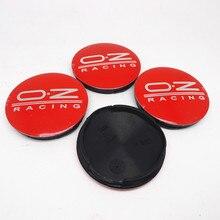 Enjoliveurs de roue rouge OZ M582, 55mm, 4 pièces, jantes de course, couvercle, accessoires de style automobile