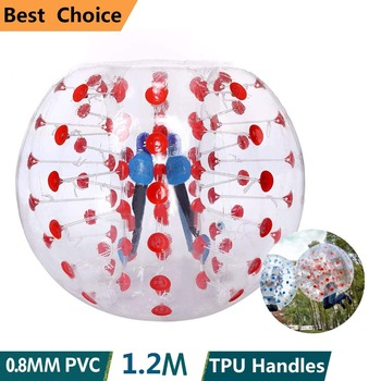 цена на 1.2M Human Air Bubble Soccer Zorb Ball 0.8mm Pvc Air Bumper Ball Adult Inflatable Bubble Football zorb Ball For Sale