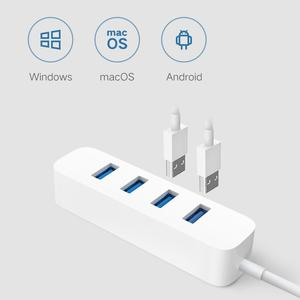 Image 2 - חדש Xiaomi USB3.0 רכזת מתאם 4 אוניברסלי יציאת 350 MB/s USB 3.0 Gigabit מתאם HUB תחנת עגינה עבור Tablet מחשב מחשב נייד