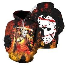 Feminino para homem 3d impresso dia das bruxas todos os santos cosplay unisex harajuku streetwear horror arte engraçado hoodies moletom jaqueta