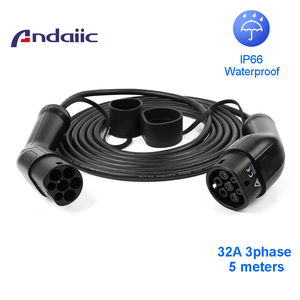 Image 1 - 32a three phase ev cable type 2 to type 2 for electric car 62196 5M EVSE kit electric car charging station