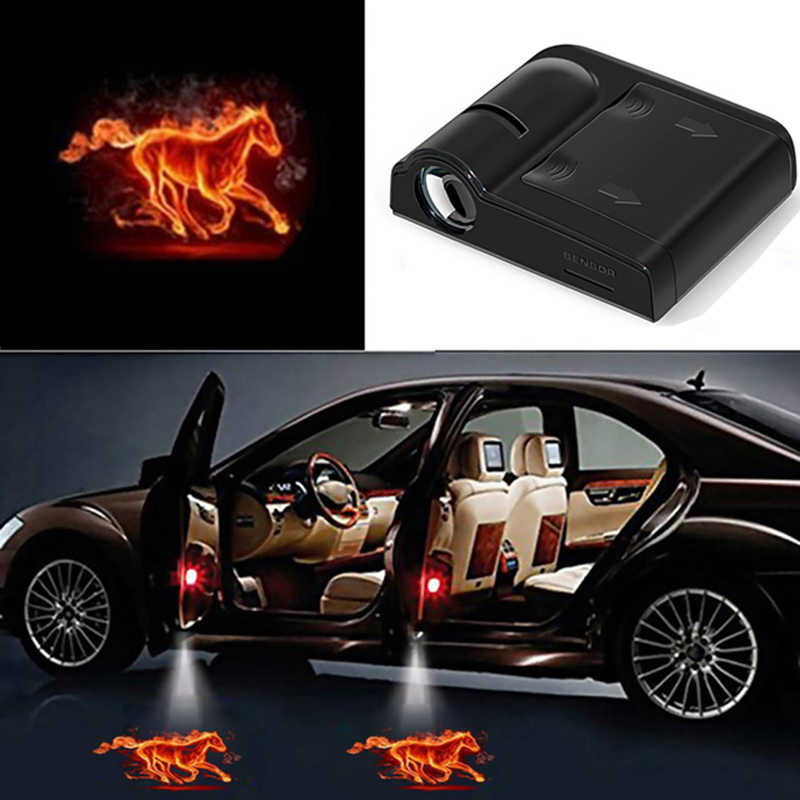 1pcs Wireless Car Door Welcome Light LED Laser Projector Logo Ghost Shadow Light For Ford BMW Toyota Universal Courtesy Lamp