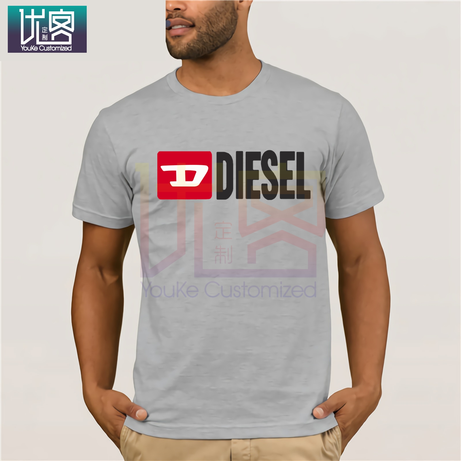2019 Fashion Men-s Diesel-t-shirt-Custom-diesel-O-Neck-Normal-Sunlight-Building-Summer-Style