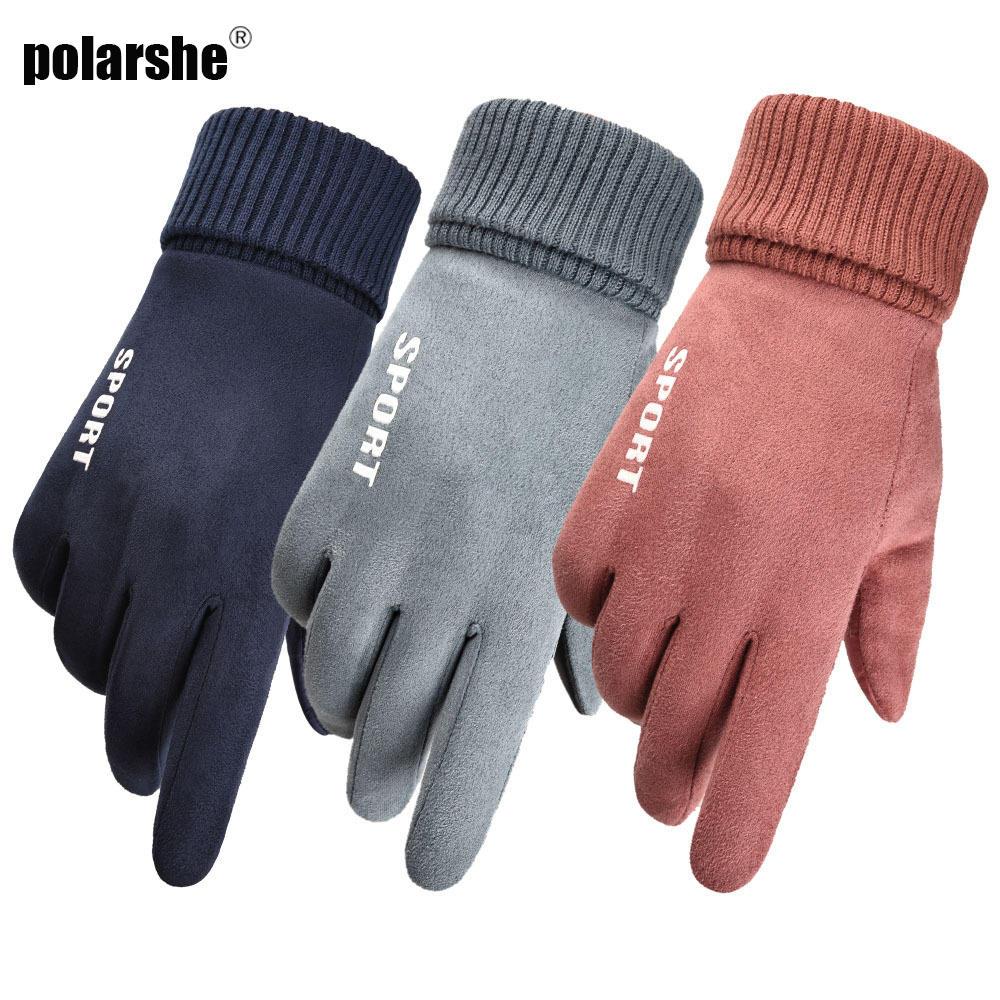 Women Gloves Thermo-Handschoenen Warm-Touchscreen Outdoor Winter Mens Windproof Anti-Slip