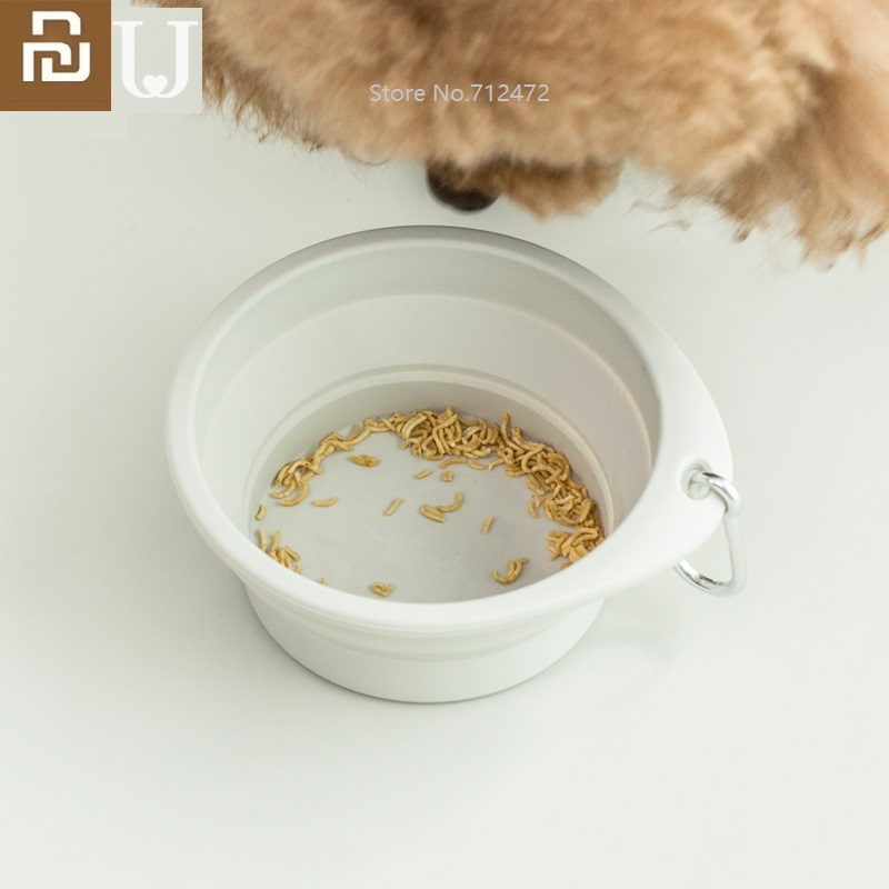 Youpin JordanJudy Pet Bowl Foldable Cat And Dog Universal Portable Drinking Bowl Home Outdoor Feeding Bowl Pet Basin