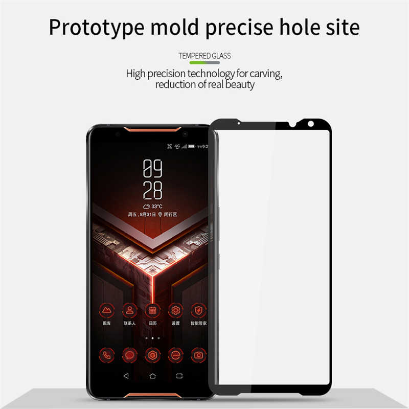 מלא מזג זכוכית עבור Asus Rog טלפון השני ZS660KL ZS600KL מסך מגן עבור Zenfone 5 ZE620KL ZS620KL על מקסימום פרו (M1) ZB601KL