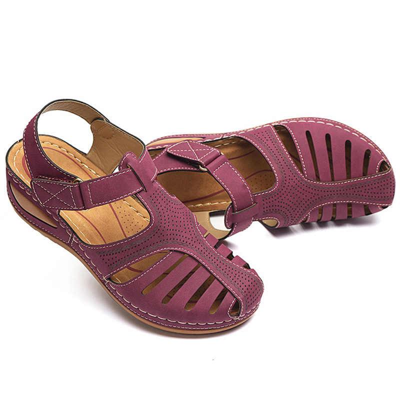 Sandały damskie nowe letnie buty kobieta Plus rozmiar 44 sandały na obcasie na kliny Chaussure Femme Casual Gladiator Sandalen Dames