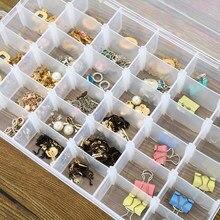 8/10/15/24 caixas de armazenamento pequenas plásticas transparentes removíveis da grade para classificar brincos anéis grânulos caixas de acabamento da jóia