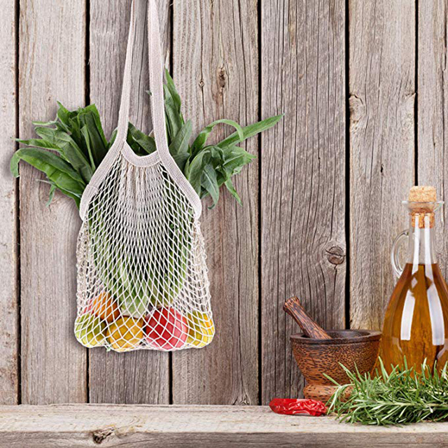 Eco Friendly Woven Mesh Bag Shopping Shopping Storage Bag Ecology Reusable Grocery Shopper Portable Cotton Portable Mesh Durable 3