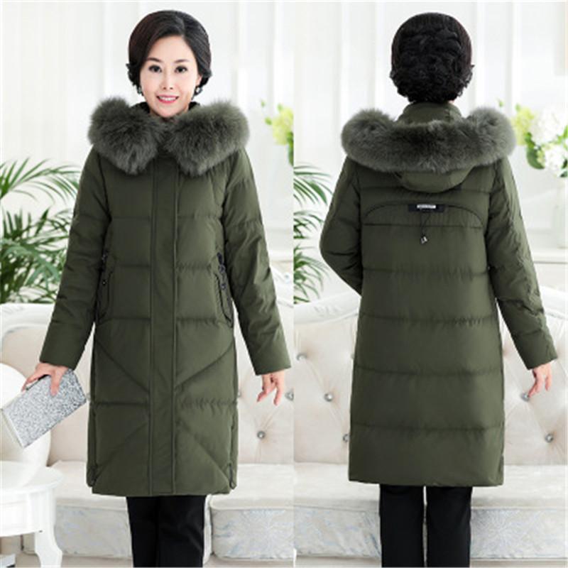 XL- 13XL 2019 New Down Jacket Women Winter Thicken Hooded Coat Middle Aged Female Super Big Size White Duck Down Coats 868