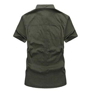 Image 4 - VINRUMIKA Große Größe M 5XL 2020 Sommer männer casual marke kurzarm shirt mann 100% reine baumwolle khaki shirts armee grün kleidung