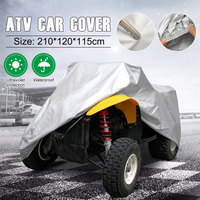 Bâche de voiture pour tracteur ATV   Imperméable 190T  couverture pour vtt  Anti UV  pluie  résistant à la chaleur  tondeuse à gazon  bâche de voiture ATV  sac XL grand tracteur