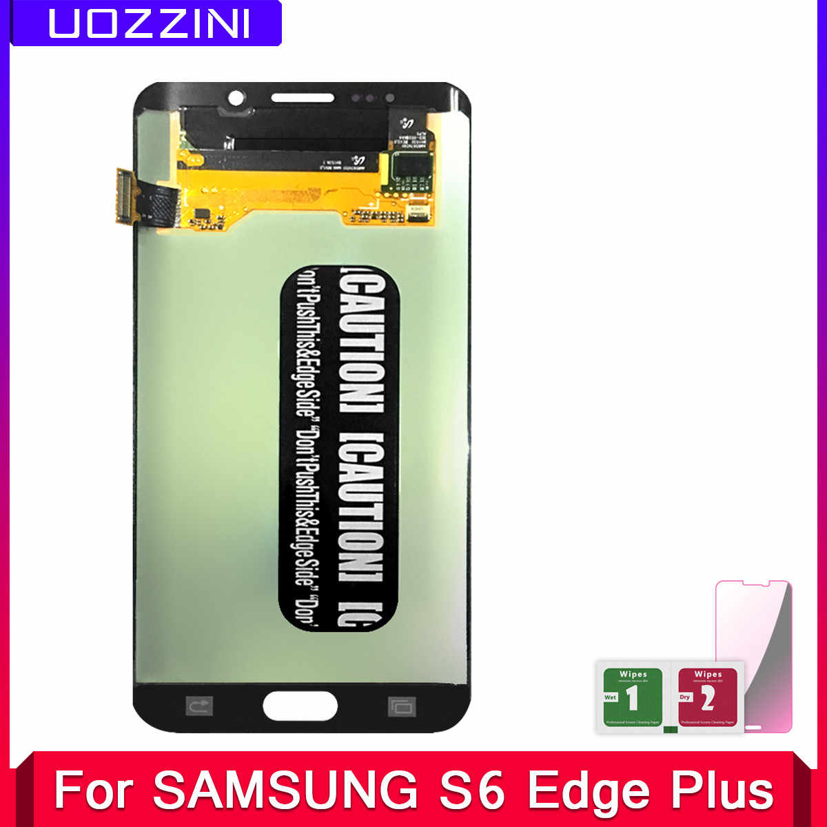2 Pcs Super AMOLED G928 For Samsung Galaxy S6 Edge Plus G928 G928F LCD Display 100% Tested Touch Screen Assembly Digitizer