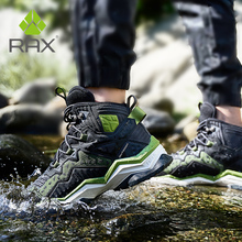 RAX erkekler yürüyüş ayakkabıları kış su geçirmez açık spor ayakkabı erkek deri Trekking botları Trail kamp tırmanma avcılık ayakkabı kadın