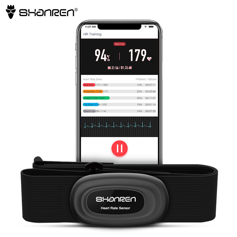 Heart Rate Monitor Fitness Cycling Tracker Heart Rate Monitor Chest Strap Bluetooth 4.0 Belt Fitness Smart Sensor Waterproof