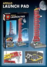 J79002 Apolloed Launchpad Tower Space Shuttle Ekspedisi Mainan Model Kompatibel Legoed 21309 10231 Blok Bangunan(China)