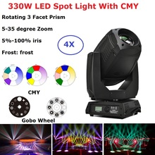 LED 330W Spot Moving Head Light DMX Wash Zoom Moving Head Light Professional Dj Bar Party Light Music Stage Dj Lighting Effect professional american dj stage light cree 10w led pocket moving head spot lcd display rotating color gobo wheel manual focus